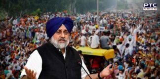 Farmers Protest: Shiromani Akali Dal (SAD) Prez Sukhbir Singh Badal condemned Arvind Kejriwal registering FIR against 1,000 farmers.
