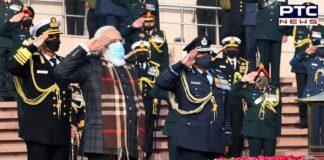 PM Narendra Modi pays tribute at National War Memorial on Vijay Diwas
