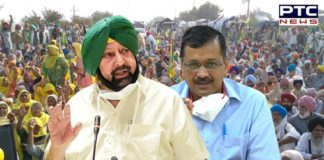 Captain Amarinder Singh lashes out at Kejriwal for low-level politics on farmers' issue