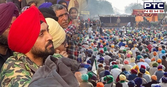Farm Laws 2020: Punjabi singer Diljit Dosanjh was spotted sitting along with the agitating farmers at the Delhi protest on Saturday.