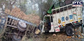 Road accident on Jalandhar Pathankot national highway