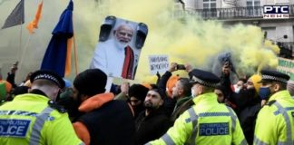 Farmers Protest: Protest outside Indian High Commission in London