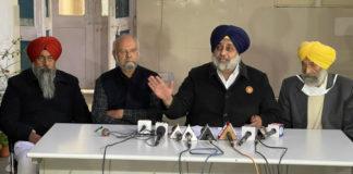 Sukhbir Badal condemns BJP for instigating violence at Singhu border