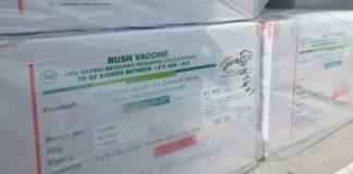 Corona vaccine consignment