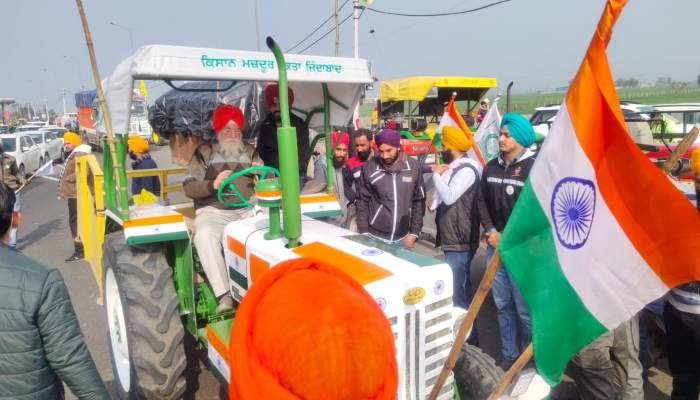 Hooda on Tractor Parade
