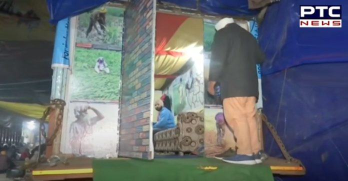 Farmers protest: Farmer turns truck into makeshift home at Singhu border