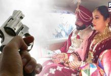 Marriage Palace ch viah smagm doran chaliaa Firing , Bride and groom in Car