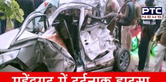 Road Accident in Mahendragarh