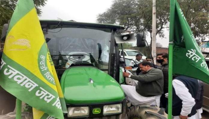 Abhay Chautala Tractor Yatra