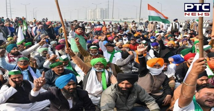 Farmers Protest in Delhi against the Central Government's Farmers laws 2020