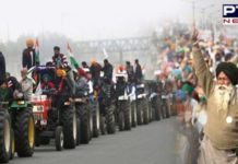 Delhi Police and Farmers between Meeting regarding Kisan Tractor Parade on January 26