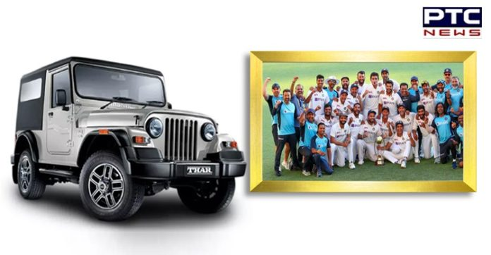 Mahindra announces Thar SUV for 6 players after historic win in Australia