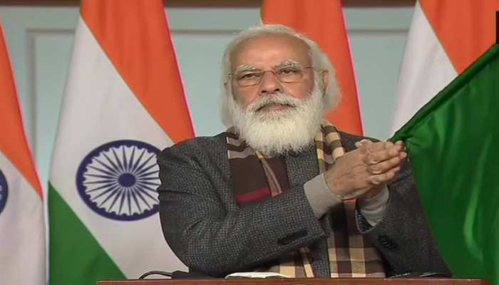 PM Narendra Modi flagged off 8 trains connecting different regions of country to Kevadiya in Gujarat connecting to Statue of Unity.