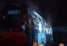 Jalore road accident: 6 killed, 19 injured after bus catches fire