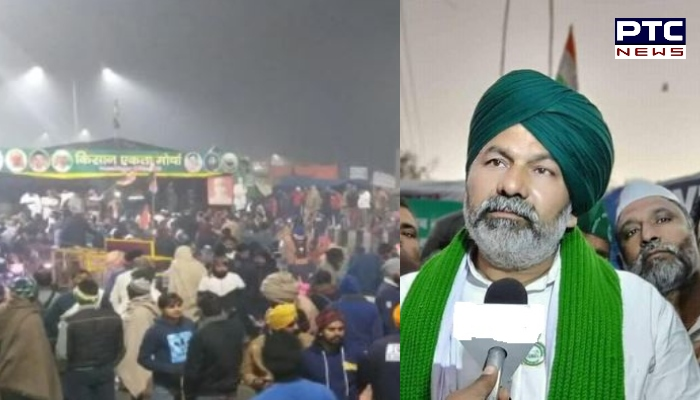 Kisan Andola at Ghazipur border: Shiromani Akali Dal president Sukhbir Singh Badal extended support to Rakesh Tikait whose tears became turning point.