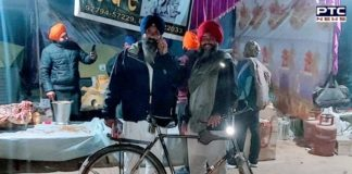 Farmers Protest: Professor from Fatehgarh Sahib travelled to Delhi on a bicycle