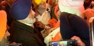 Sukhbir Singh Badal reached Ghazipur Border