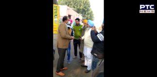 Farmers protest against BJP leader Tarsem Goyal at Muktsar Sahib