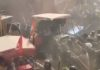 Tractor March Delhi: Haryana police lathi charges protesting farmers