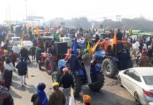 Tractor March Delhi route: Ahead of tractor march on Republic Day 2021, farmers reached ITO, Sarai Kale Khan, and Pragati Maidan in Delhi.