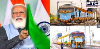 PM Modi dedicates Rewari-Madar section of Western Dedicated Freight Corridor to nation