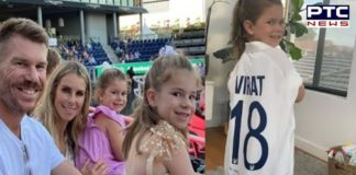 David Warner shares daughter's pic, posing in Test jersey gifted by Virat Kohli