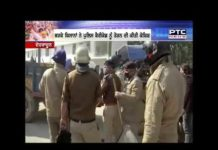 Police involved with farmers in Dehradun