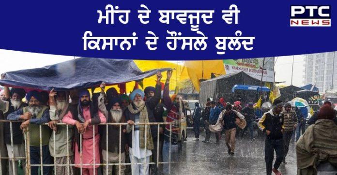 Farmers Protest : Rain and thand de bavjud vi Kisan Andolan enters day 41