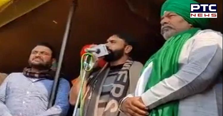 Farmers Protest : Singer Babbu Maan at Gazipur Border । Rakesh Tikait