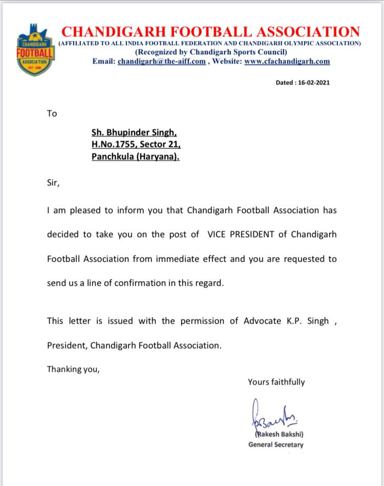 Bhuppi Appointed as vice president