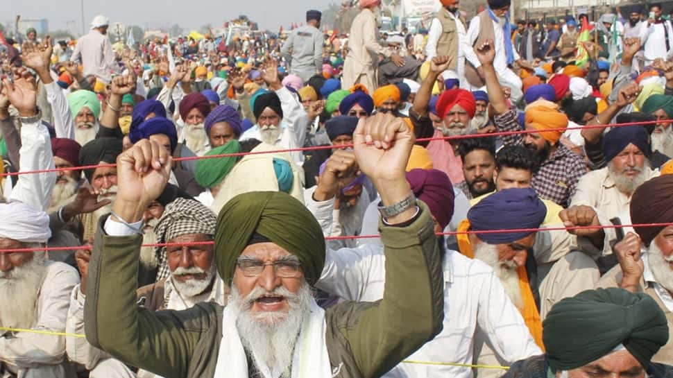 Amid farmers protest against farm laws 2020, police issued warning to vacate the protest site at Tikri border or else face legal proceedings.