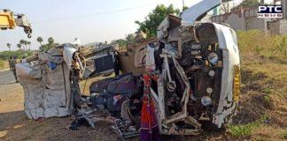 Kurnool Road Accident: 14 killed, 4 children injured in bus-truck collision in Andhra Pradesh