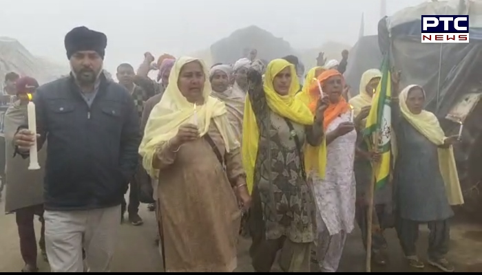 Pulwama attack : Farmers Candle March in Honour of Pulwama Martyrs