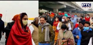 Opposition MPs reach Ghazipur border to support farmers struggling against Agricultural laws