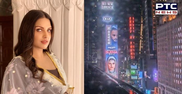 Himanshi Khurana becomes first female Punjabi artist to feature on New York's Times Square Billboard