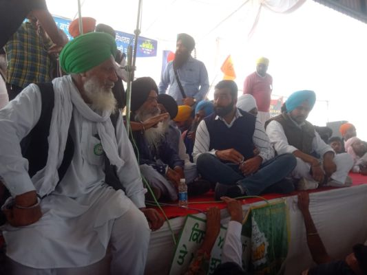 Lakha Sidhana reaches Mehraj farmers rally in Bathinda ,Wanted for R-Day violence