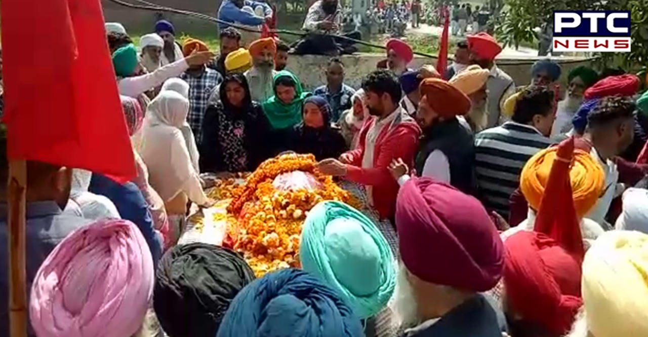 Punjab farmer leader Master Datar Singh cremation in Gumtala