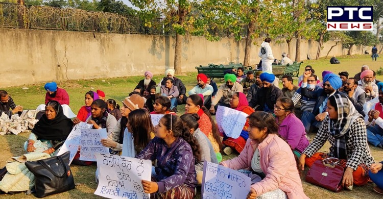 Patiala : Protest to get justice for 23-year-old Dalit woman Nodeep Kaur