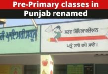 Punjab Education Dept renames Pre-Primary classes by LKG and UKG