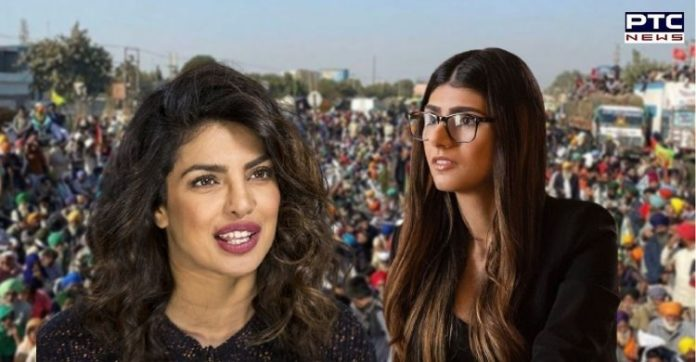 Mia Khalifa asks why Priyanka Chopra is silent on farmers' protest