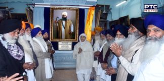 Saka Nankana Sahib Shaheed Bhai Lachhman Singh Dharovali Picture decorated at Central Sikh Museum