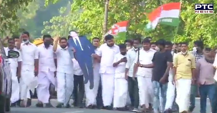 Indian Youth Congress pour black oil on cut-out of Sachin Tendulkar in Kochi: Sachin Tendulkar joined 'India Together' and 'India Against Propaganda'.