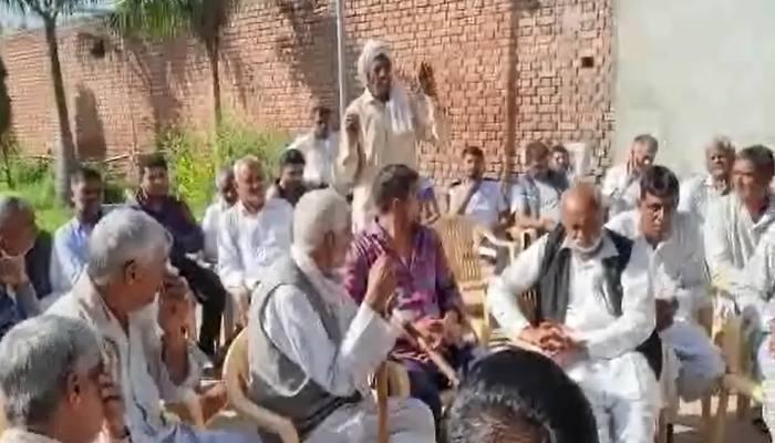 Panchayat in Samain Village