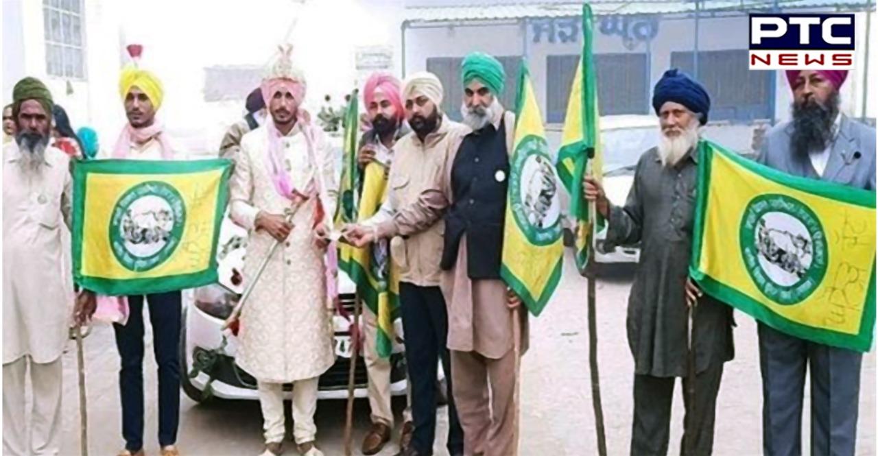 Viah wali car te kisani jhanda la ke bride is married to the groom