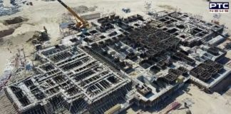 Work on Abu Dhabi Hindu temple foundation almost complete [PHOTOS]