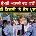 SAD MLAs protests outside Punjab Vidhan Sabha over costly power issue