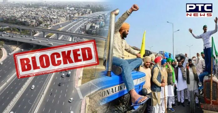 Farmers block KMP expressway for 5 hours to mark 100 days of protest
