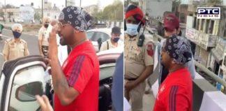 Punjabi Singer Master Saleem Challan by Phagwara Police for not wearing mask