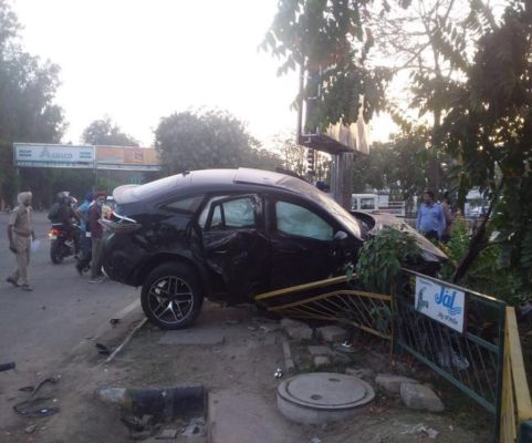 In a major road accident in Mohali, three people killed, one was injured after an overspeeding Mercedes-Benz rammed into an Ertiga car.