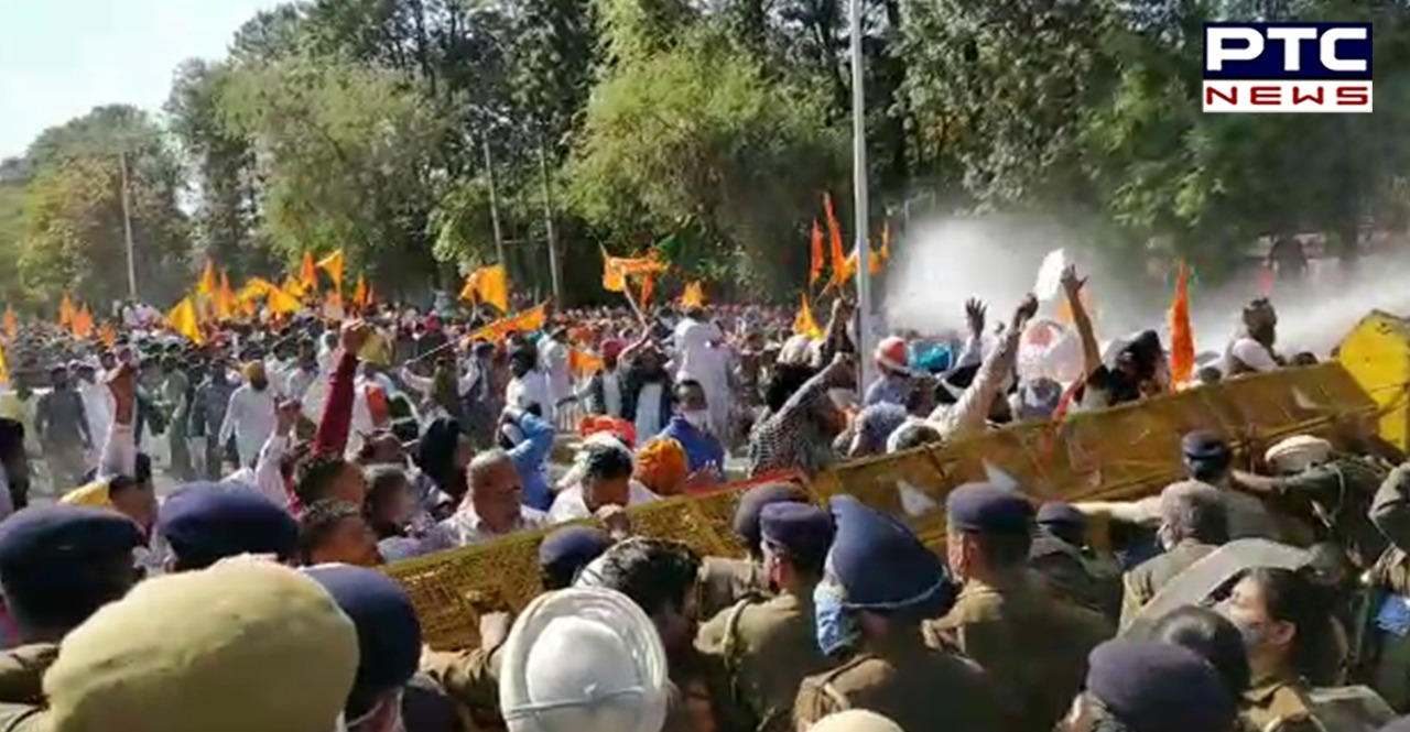 SAD march towards Punjab Vidhan Sabha Ahead of Budget session 2021: Chandigarh Police detained Shiromani Akali Dal leaders including Sukhbir Singh Badal.